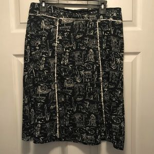 Dressbarn Black And White Patterned Skirt 10